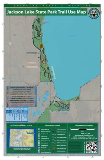 map of Jackson Lake - Trail System (#33)