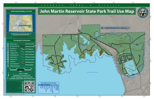 map of John Martin Reservoir - Trail System (#34)