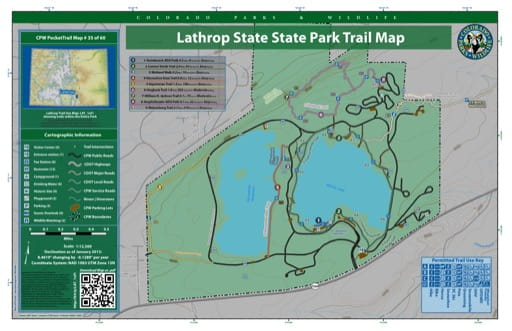 map of Lathrop - Trail System (#35)