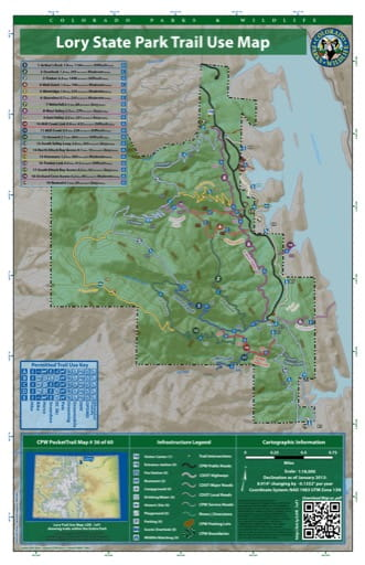 map of Lory - Trail System (#36)