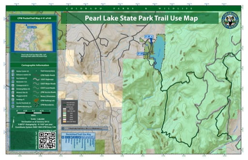 map of Pearl Lake - Trail System (#41)