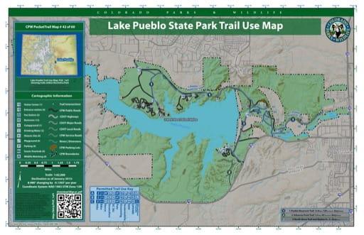 map of Lake Pueblo - Trail System (#42)