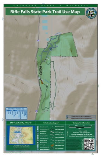 map of Rifle Falls - Trail System (#46)