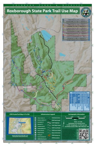 map of Roxborough - Trail System (#47)