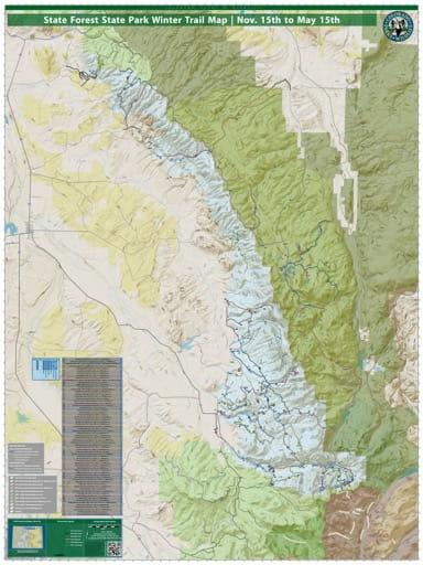 map of State Forest - Winter Trail Map (#48)