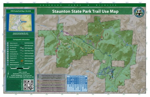 map of Staunton - Trail System (#50)
