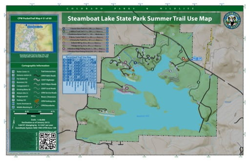 map of Steamboat Lake - Summer Trail map (#51)