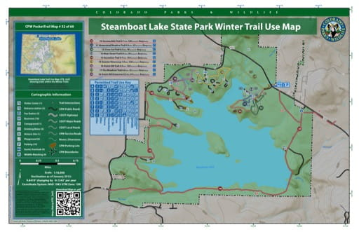 map of Steamboat Lake - Winter Trail map (#52)