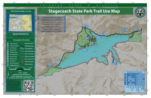 map of Stagecoach - Trail System (#53)