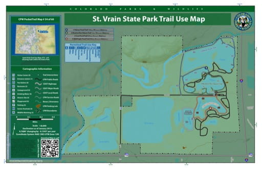 map of St. Vrain - Trail System (#54)