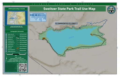 map of Sweitzer Lake - Trail System (#55)