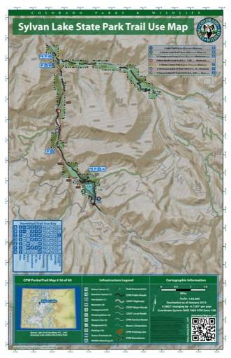 map of Sylvan Lake - Trail System (#56)