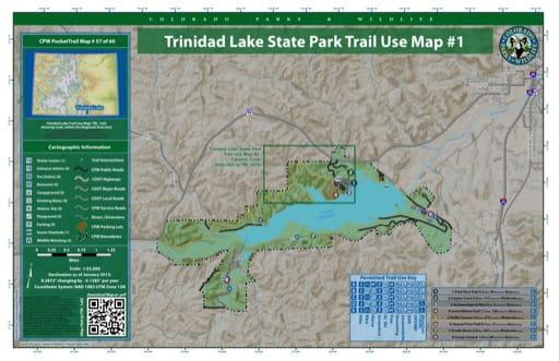map of Trinidad Lake - Trail System (#57)