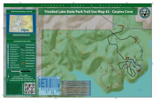 map of Trinidad Lake - Carpios Cove (#58)