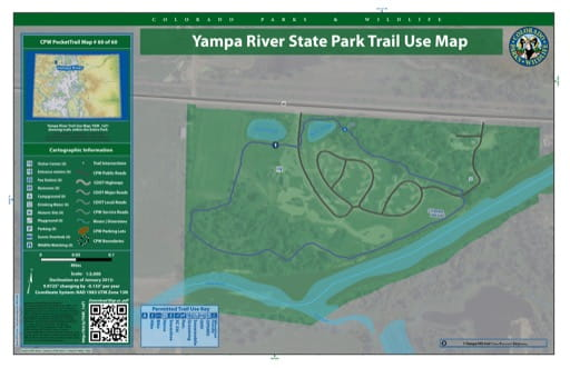 map of Yampa River - Trail System (#60)