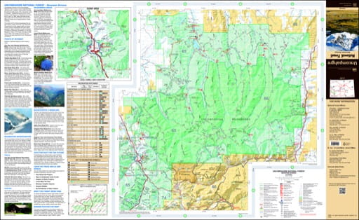 map of Uncompahgre - Mountain East 2017