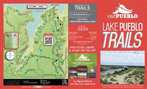 map of Lake Pueblo - Trails West