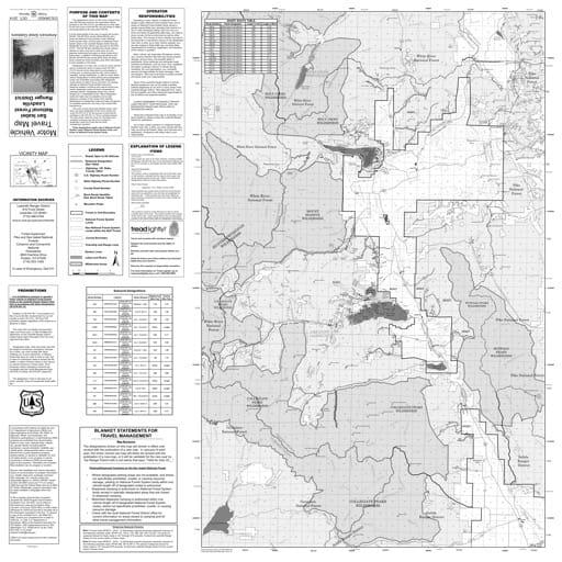 map of San Isabel MVTM - Leadville 2019