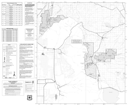 Motor Vehicle Travel Map (MVTM) of San Carlos Ranger District in San Isabel National Forest (NF) in Colorado. Published by the U.S. Forest Service (USFS).