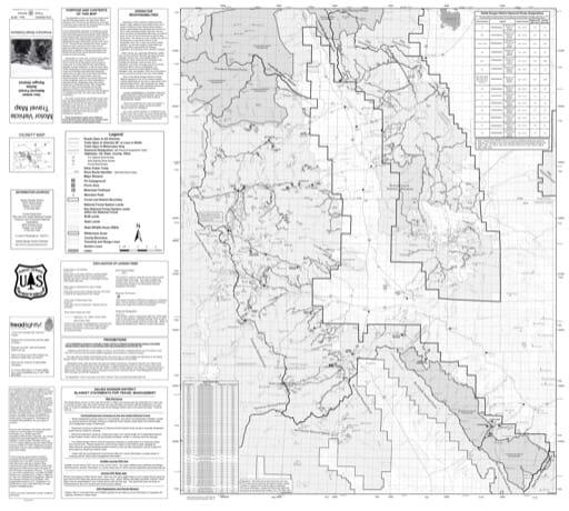 map of San Isabel MVTM - Salida 2018