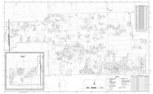 map of Comanche MVUM - Back 2019