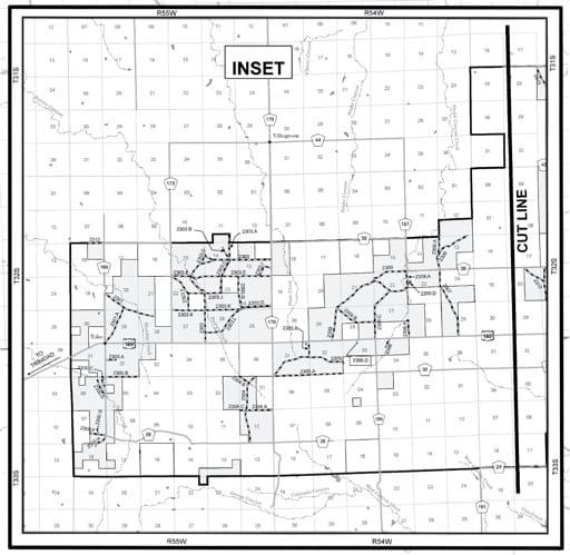 map of Comanche MVUM - Inset 2010
