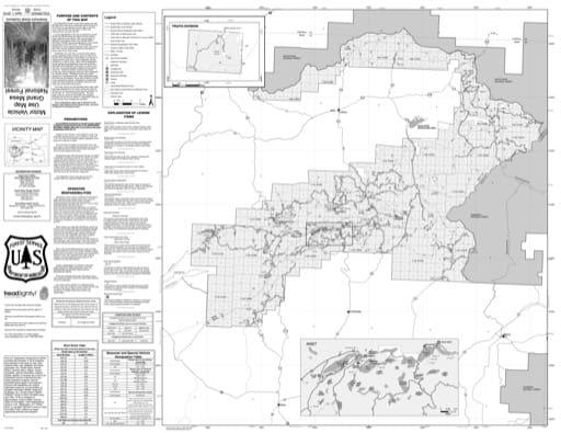 map of Grand Mesa MVUM - 2015