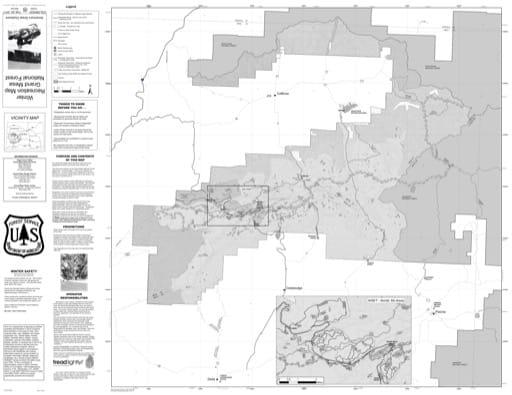 map of Grand Mesa MVUM - Winter 2017
