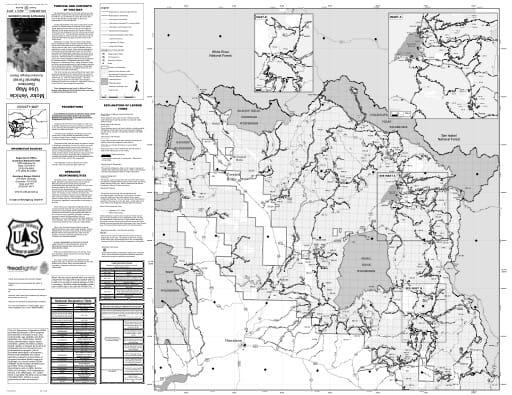 map of Gunnison MVUM - North 2016