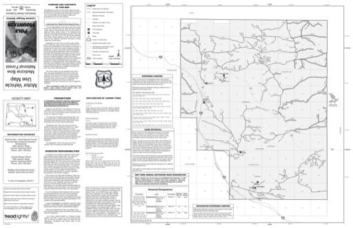 Motor Vehicle Use Map (MVUM) of Pole Mountain in Laramie Ranger District in Medicine Bow National Forest (NF) in Wyoming. Published by the U.S. Forest Service (USFS).