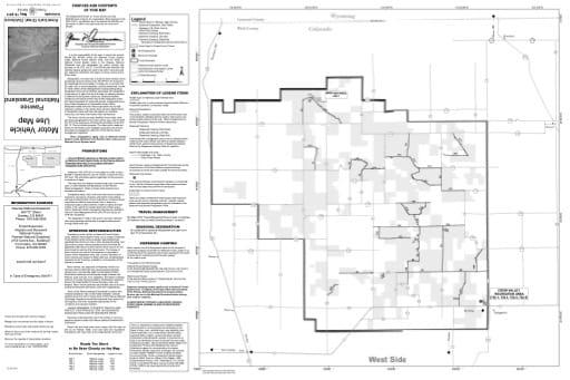 map of Pawnee MVUM - West 2011