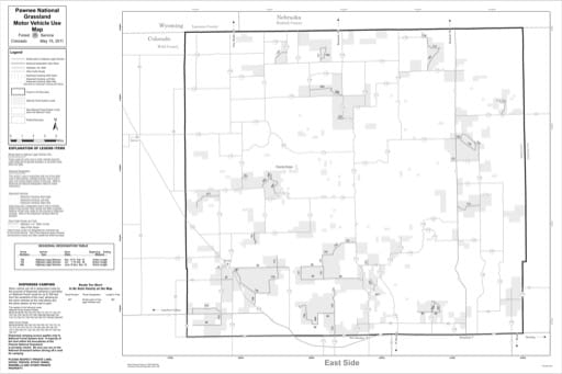 map of Pawnee MVUM - East 2011