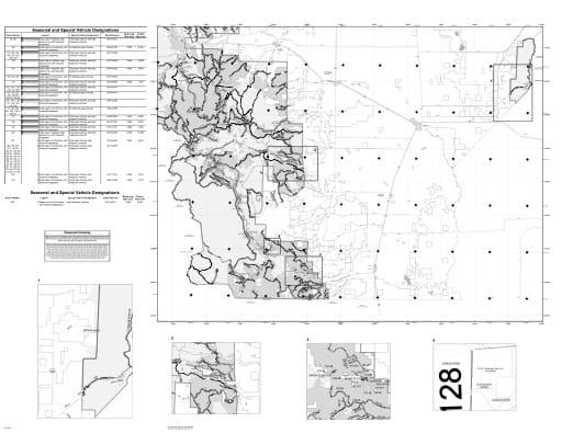 map of Rio Grande MVUM - Conejos Peak East 2018