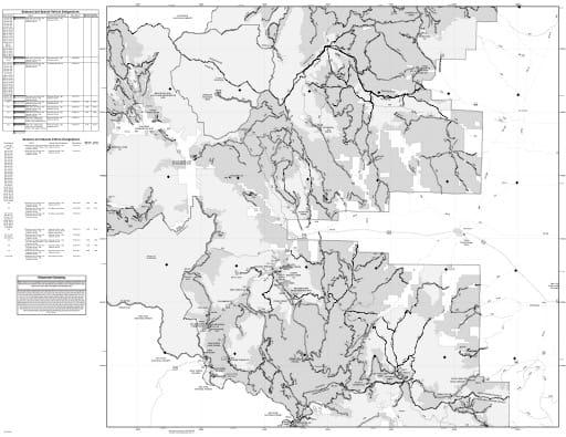 map of Rio Grande MVUM - Divide East 2018
