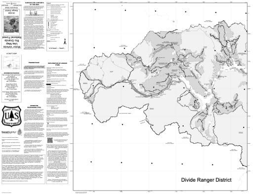 map of Rio Grande MVUM - Divide West 2018