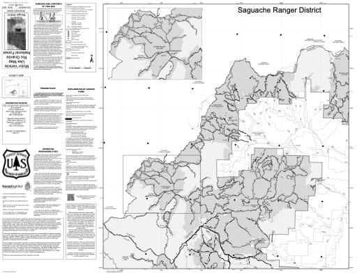 map of Rio Grande MVUM - Saguache West 2018
