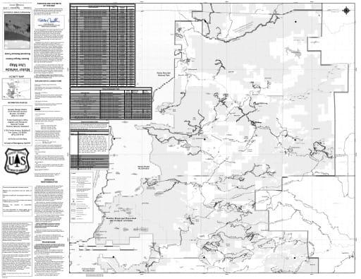 map of Roosevelt MVUM - Boulder North 2016