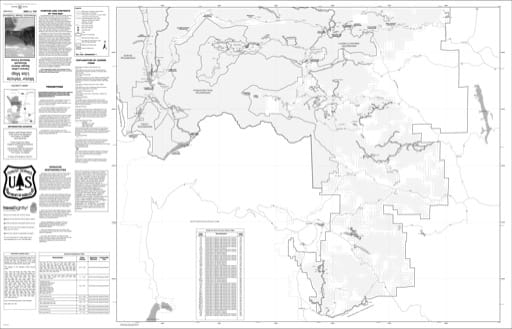 map of Roosevelt MVUM - Canyon Lakes South 2009