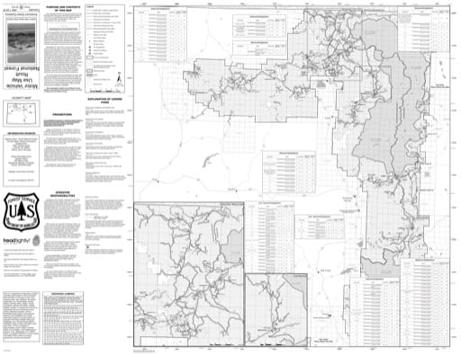 Motor Vehicle Use Map (MVUM) of Hahns Peak/Bears Ears Ranger District in Routt National Forest (NF). Published by the U.S. Forest Service (USFS).
