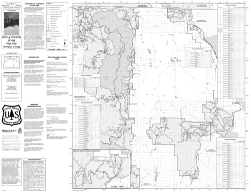 Motor Vehicle Use Map (MVUM) of Parks Ranger District in Routt National Forest (NF). Published by the U.S. Forest Service (USFS).