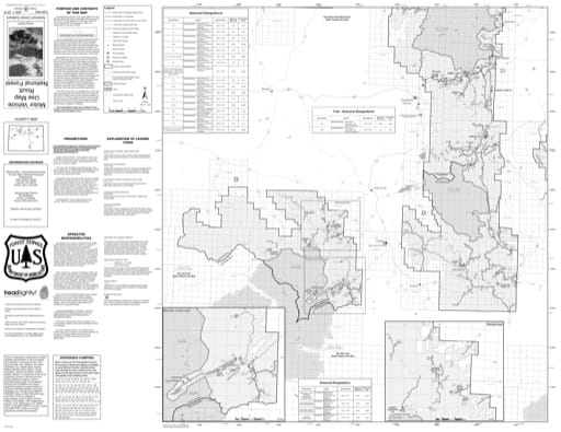 Motor Vehicle Use Map (MVUM) of Yampa Ranger District in Routt National Forest (NF). Published by the U.S. Forest Service (USFS).