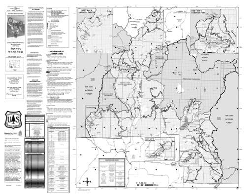 map of San Juan MVUM - Columbine 2019