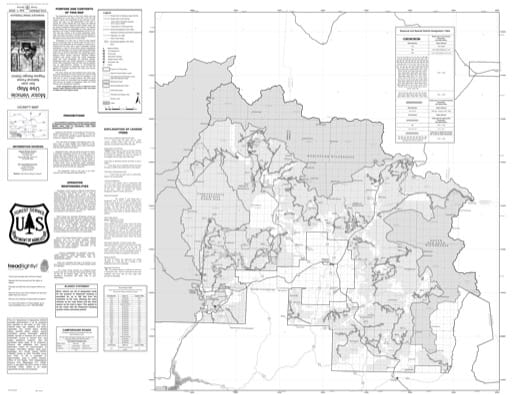 Motor Vehicle Use Map (MVUM) of Pagosa Ranger District in San Juan National Forest (NF) in Colorado. Published by the U.S. Forest Service (USFS).
