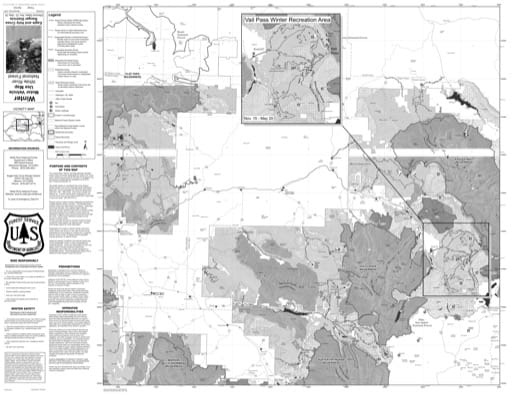 Motor Vehicle Use Map (MVUM) of Eagle - Holy Cross Ranger District in White River National Forest (NF). Published by the U.S. Forest Service (USFS).