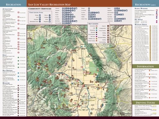 map of San Luis Valley - Recreation Map