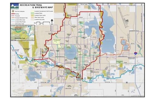 map of Boyd Lake - Loveland - Trails and Bikeways