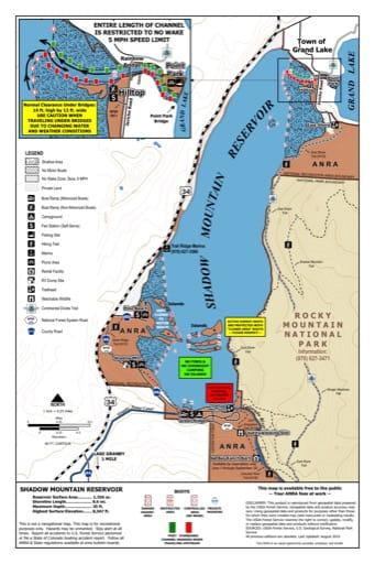 map of Arapaho - Shadow Mountain Lake
