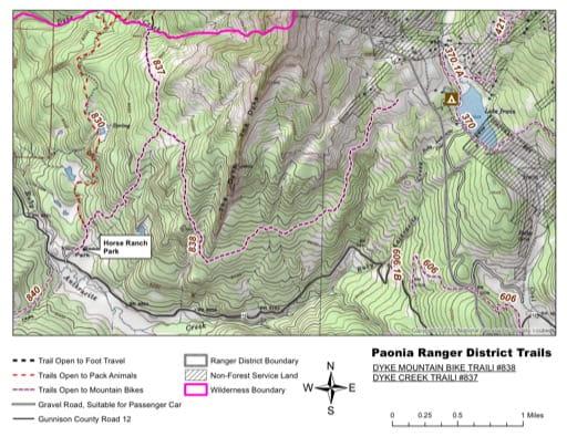 map of Gunnison - Dyke Creek #837