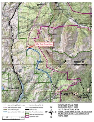 map of Gunnison - Raggeds #820