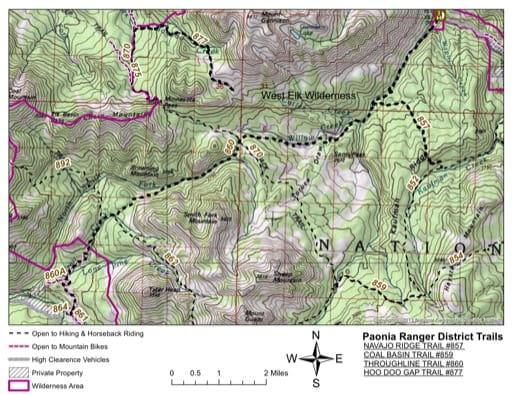 map of Gunnison - Navajo Ridge #857